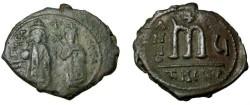 Ancient Coins - Phocas 602-610 AD  AE Follis Theoupolis S-671
