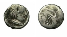 Ancient Coins - N India Western Satraps Family Swami Ruoransena 348-390AD AR Drachm
