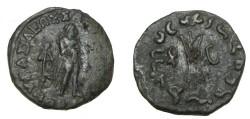 Ancient Coins - Bactria Apollodotos II Ca 110-80 BC AR Obol Jammu M-2083 S!