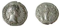 Ancient Coins - Antoninus Pius  138-161 AD AR Denarius