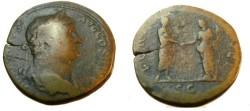 Ancient Coins - Hadrian Ca 117-138AD AE Sestertius