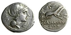 Ancient Coins - Roman Republic, Flaminia 1, L. Flaminius Chilo 43 BC.