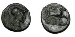Ancient Coins - Thessalian league AE 18 196-146 BC S-2238