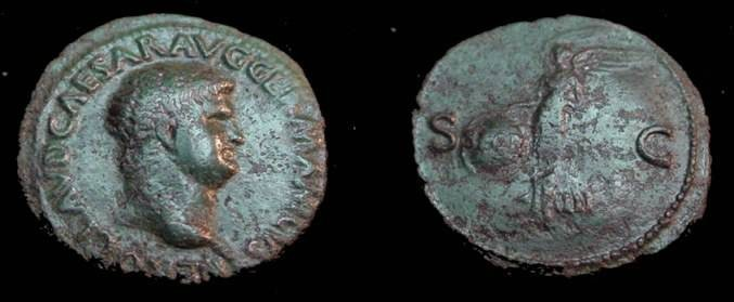Ancient Coins - Nero 50-68AD Copper As