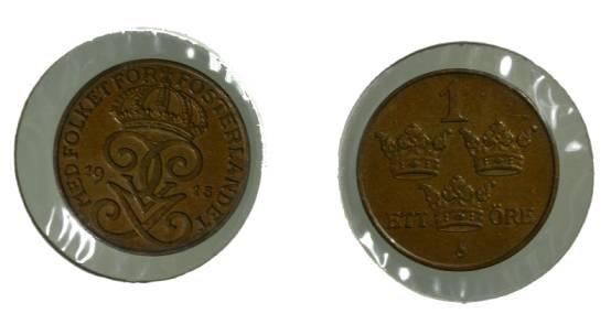 World Coins - Sweden 1 Ore 1915 KM#777.2