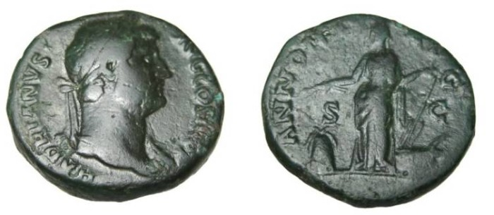 Ancient Coins - Hadrian 117-138 AD AE Dupondius ANNONA AVG RIC 796