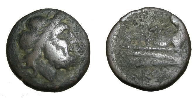 Ancient Coins - Roman Republic AE semis 2nd Century BC