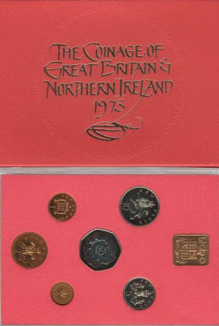 World Coins - 1973 Coinage of Great Britain & Northern Ireland Proof Set
