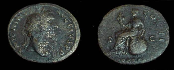 Ancient Coins - Antoninus Pius AE Sesterius