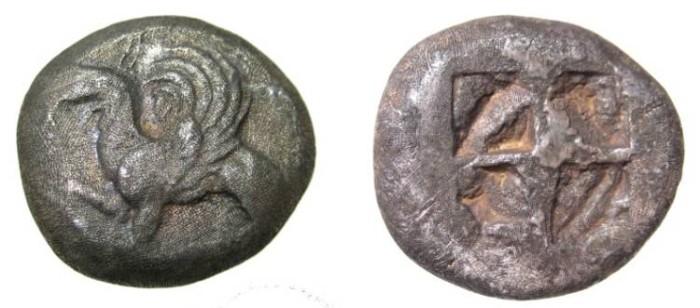 Ancient Coins - Thrace Abdera 530-500 BC AR Tetradrachm S-1336