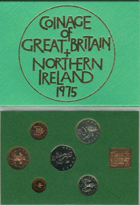 World Coins - 1975 Coinage of Great Britain & Northern Ireland Proof Set