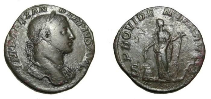 Ancient Coins - Severus Alexander 222-235AD AE Sestertius RIC 645