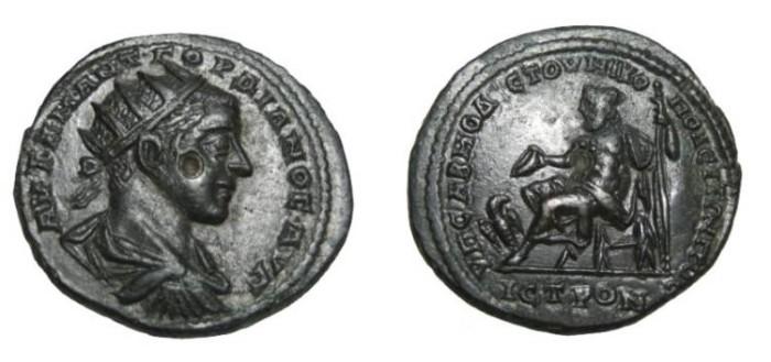 Ancient Coins - Gordian III 238-244 AD Nicoplis Moesia Inferior AE26 Zeus Std