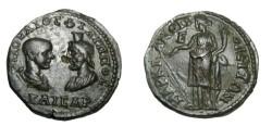 Ancient Coins - Philip II & Serapis Marcianopolis Moesia Inferior AE27 Rv Tyche