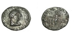 Ancient Coins - Bactria Hermaios Ca 40-1BC AR Drachm Kapasa M# 2020 S# 7741