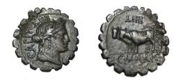 Ancient Coins - C. Marius C.f. Capito 81BC Denarius Serratus SRVC 300; Craw 744b; RSC 1 Mario 9
