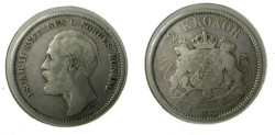 World Coins - Sweden 2 Kroner 1877