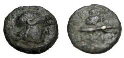 Ancient Coins - Asia Minor Ionia Priene 3rd Cent BC AE 17 S-4554 Scarce