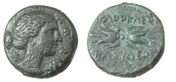Ancient Coins - Syracuse Siciily Ca 317-289BC AgathoklesAE Artemis head L.