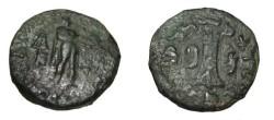 Ancient Coins - Bactria Apollodotos II Ca 110-80 BC AR Obol Jammu M# 432