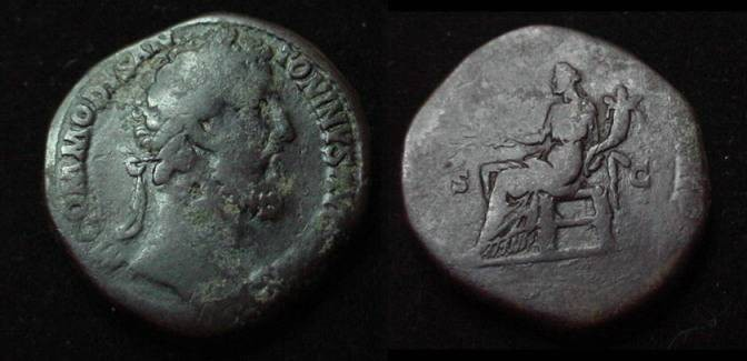 Ancient Coins - Commodus, 177-192 A.D. AE Sestertius