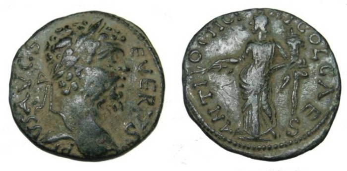 Ancient Coins - Pisidia Antioch Septimus Severus 193-211 AD AE 22
