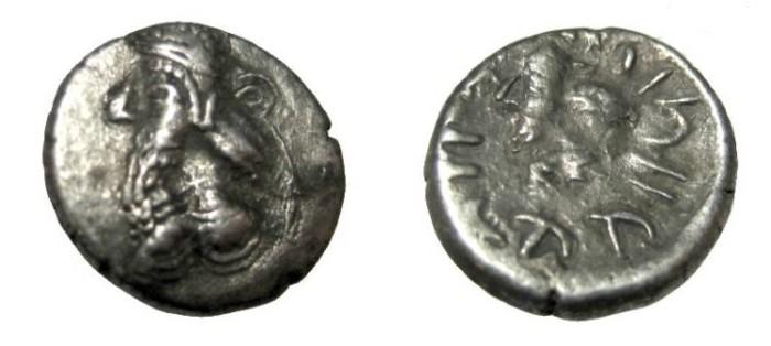 Ancient Coins - Persis Kapat son of Namopat 1st - 2nd Century AD AR Hemi-drachm S# 5951 M# 748