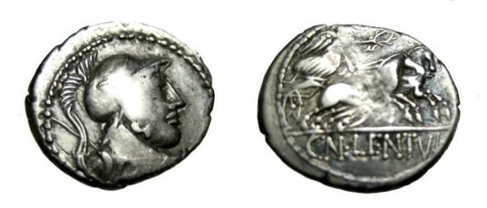 Ancient Coins - Cornelius Lentulus 88 BC AR Denarius RCI 254