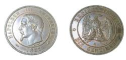 World Coins - France Napoleon III 1852-1870  AE 10 Centimes  Y17  1855 A