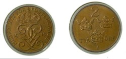 World Coins - Sweden 2 Ore 1919 KM#778