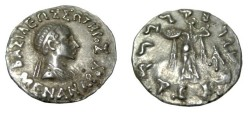 Ancient Coins - Bactria  Menander Ca 160-145 BC AR Drachm S# 7600