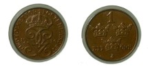 World Coins - Sweden 1 Ore 1920 Unc