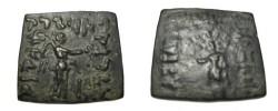 Ancient Coins - Bactria Phlyoxenos Ca. 110-80 BC AE Hemi-obol Pushkalavati R! S# 7665