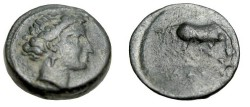 Ancient Coins - Thessaly Larissa AE 17 360-325BC S-2129 Horse R