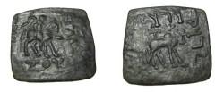 Ancient Coins - Indo-Skythian Azes I Ca 57-35 BC AE Penta Chalkon Taxila