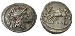 Ancient Coins - L Julius Denarius. 100-97 BC.