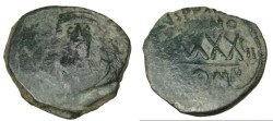 Ancient Coins - Phocas 602-610 AD  AE Follis Constantinople S-640