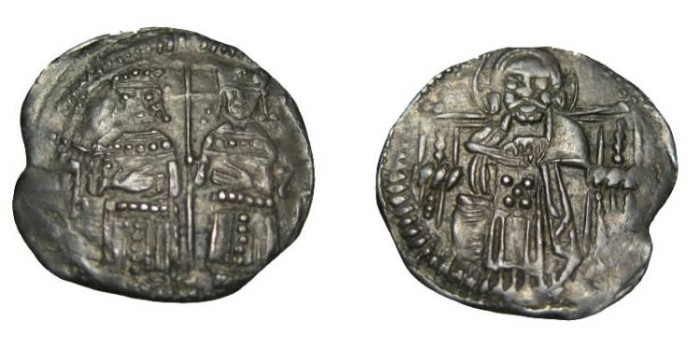 World Coins - Serbia Stefan Dusan as emperor 1345-1355 AR Dinar
