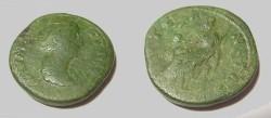 Ancient Coins - Faustina Senior  AE Sestertius 14AD