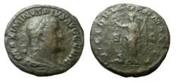 Ancient Coins - Maximinus I 235-238AD AE Sestertius Rx Victoria