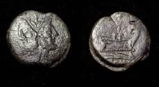 Ancient Coins - Roman Republic AE As 157-155BC