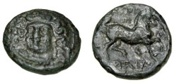 Ancient Coins - Thessaly Larissa AE 20 360-325BC S-2131