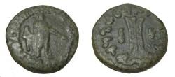 Ancient Coins - Bactria Apollodotos II Ca 110-80 BC AE Obol Jammu M#432