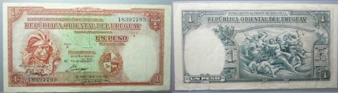 World Coins - Uruguay   Republica oriental del  Uruguay1 peso 1935 P-28