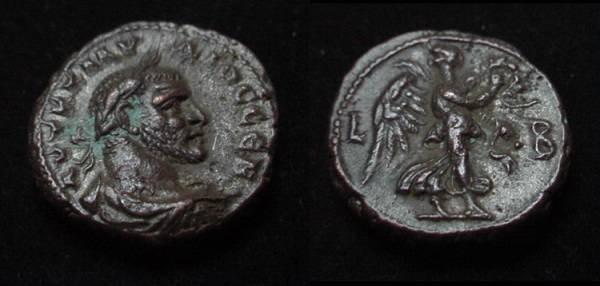 Ancient Coins - Claudius II Roman Egypt Billion Tetradrachm
