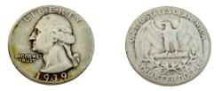 Us Coins - 1939-S Washington Quarter