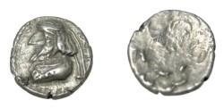 Ancient Coins - Persis Kapat (Napat) son of Namopat 1st - 2nd century AD AR Obol S# 5953