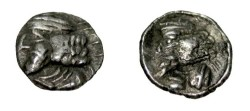 Ancient Coins - Persis Pakur 1st century AD AR Obol S# 5947
