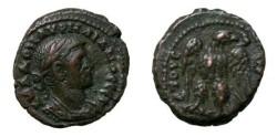 Ancient Coins - Aurelian 270 - 275 AD Roman Egypt Potin Tetrdrachm D 5488
