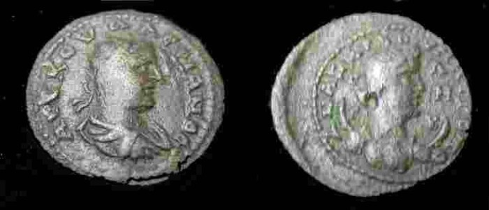 Ancient Coins - Valerian I AE22 of Anazarbus in Cilicia.